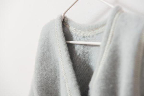 Brassière en laine mérinos bio pour bébé Lana Care gris