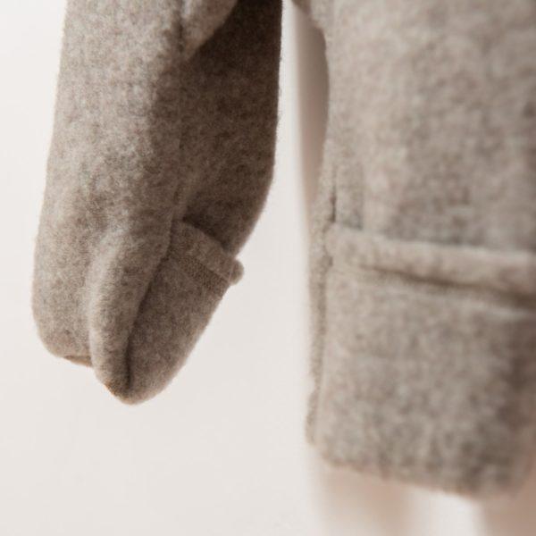 Combinaison combi-pilote en polaire de laine mérinos bio taupe Joha