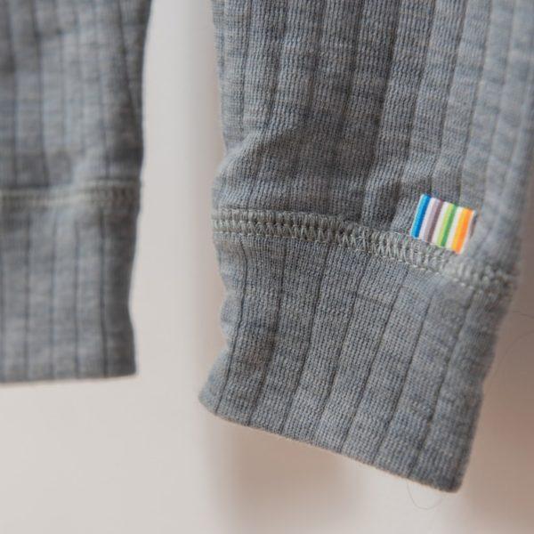 Legging fin enfant en laine mérinos bio gris joha