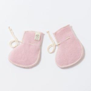 Chaussons bébé en laine mérinos bio rose clair Lana Care