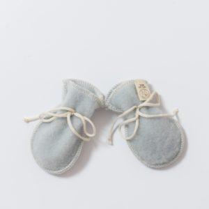 Moufles bébé en laine mérinos bio gris clair Lana care
