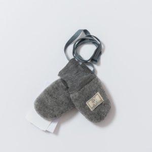 Moufles bébé en polaire de laine mérinos bio gris Pickapooh
