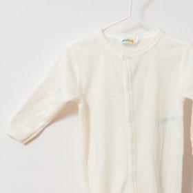 Pyjama grenouillère en laine mérinos bio écru Joha