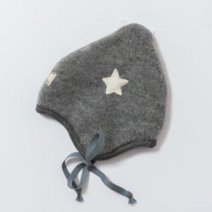 Bonnet en polaire de laine mérinos bio gris Pickapooh