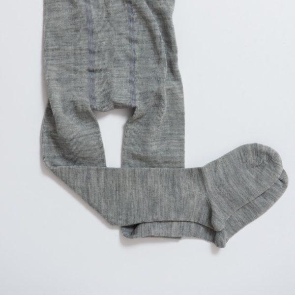 Paire de collants enfant en laine mérinos bio gris Grödo Groedo