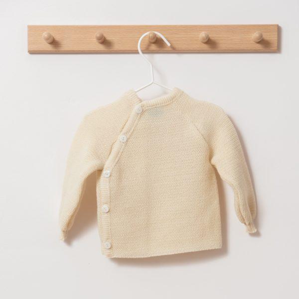 Brassière bébé en laine mérinos bio écru Reiff