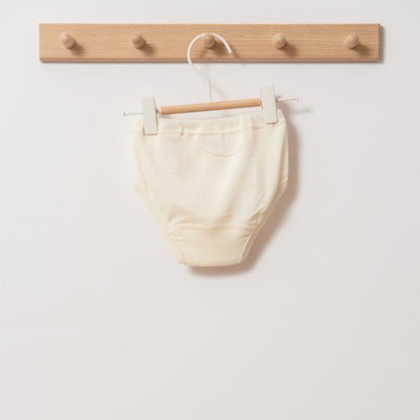 Slip / culotte enfant en laine mérinos bio écru Cosilana
