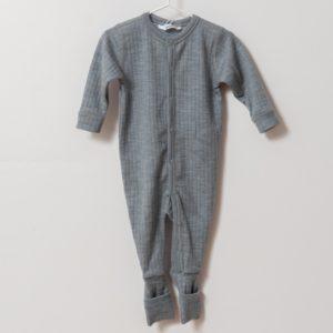 Pyjama grenouillère en laine mérinos bio gris Joha