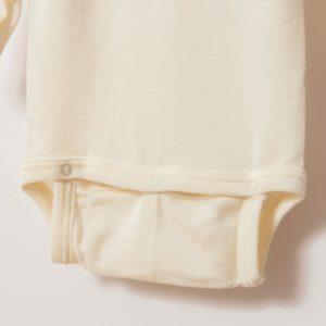 Body bébé manches longues en laine mérinos bio écru Cosilana