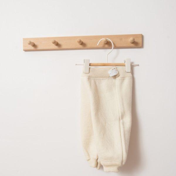 Pantalon bébé en laine mérinos bio écru Lana Care