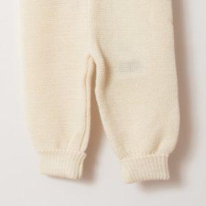 Pantalon en laine mérinos bio écru Reiff