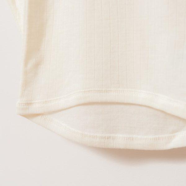 Tricot de peau sous-vêtement enfant en laine mérinos bio écru Joha