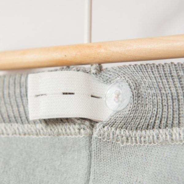 Pantalon bébé en laine mérinos bio gris clair Lana Care
