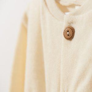Gigoteuse manches longues en laine mérinos bio écru Cosilana