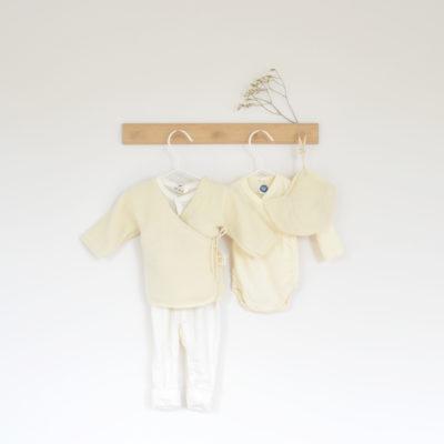 Tenue de naissance en laine mérinos bio - Ode to Wool