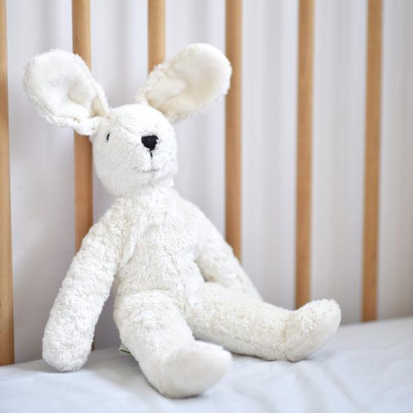 Peluche doudou lapin bio Senger Naturwelt - blanc