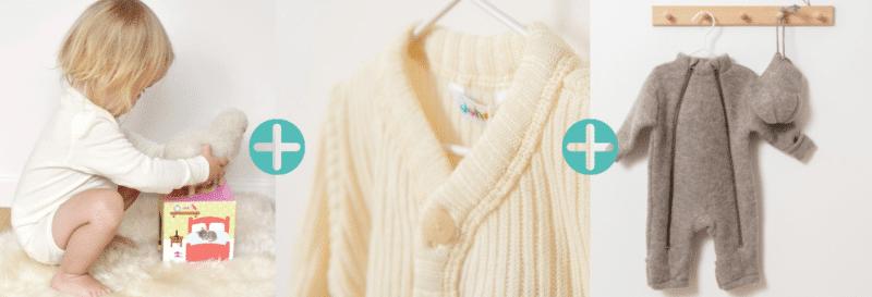 La technique de l'oignon et des vêtements en laine mérinos pour habiller votre bébé ♡