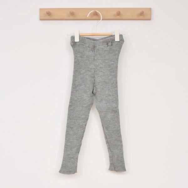 Legging épais en laine mérinos bio Disana gris