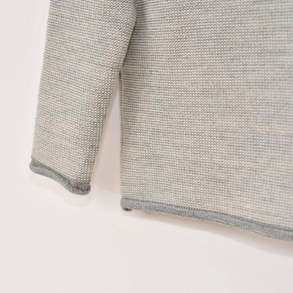 Pull en laine mérinos bio gris clair Disana