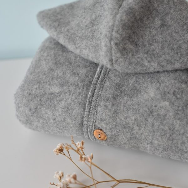 Veste en laine mérinos bio Engel gris clair