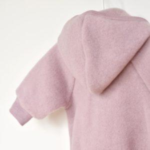 Veste en laine mérinos bio Engel rose clair