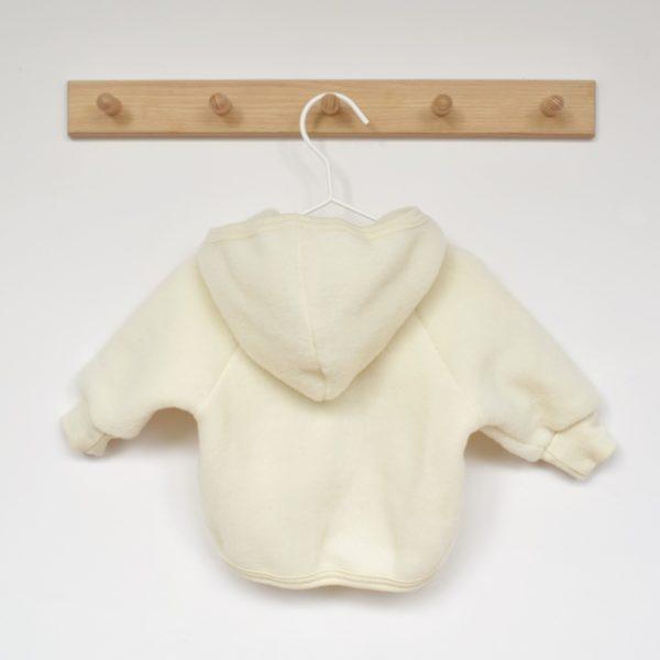 Veste en laine mérinos bio Engel écru