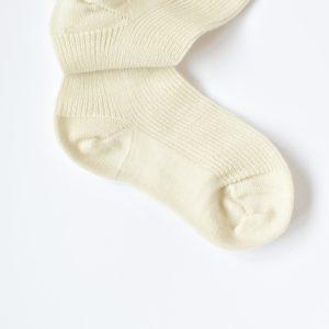 Chaussettes fines en laine mérinos Grödo écru