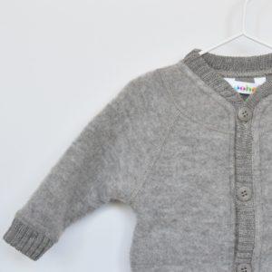 Combinaison en laine mérinos bio Joha taupe