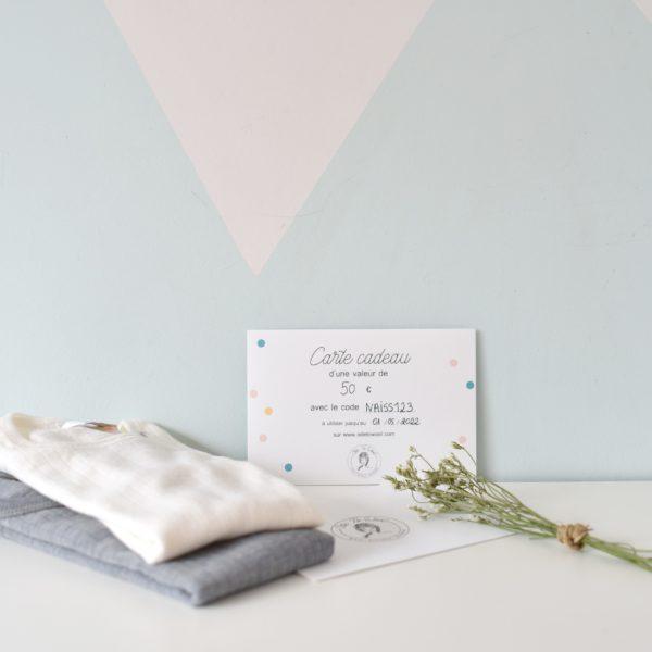 Carte cadeau pour vêtements en laine mérinos bio Ode to Wool
