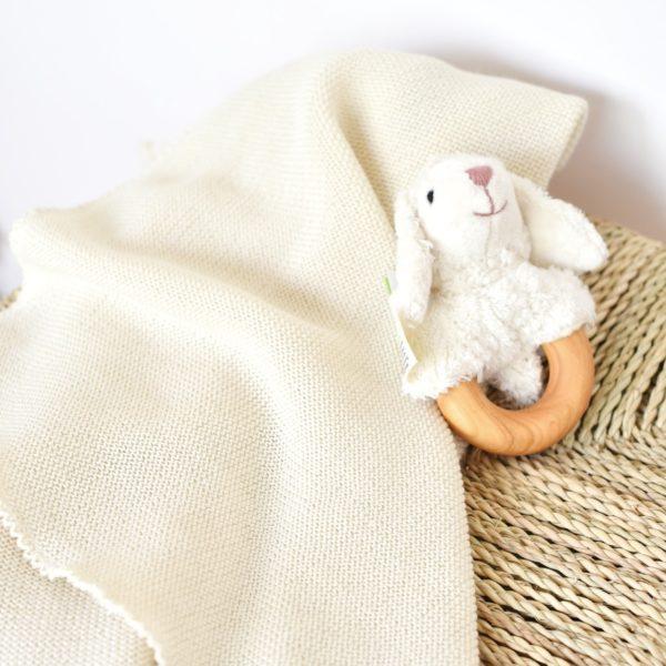 Couverture bébé en laine mérinos bio Reiff