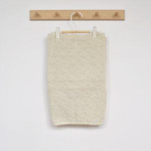 Couverture bébé en laine mérinos bio écru Disana