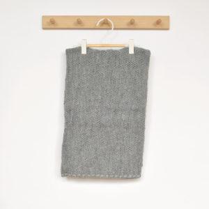 Couverture bébé en laine mérinos bio gris Disana