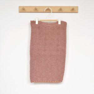 Couverture bébé en laine mérinos bio rose Disana