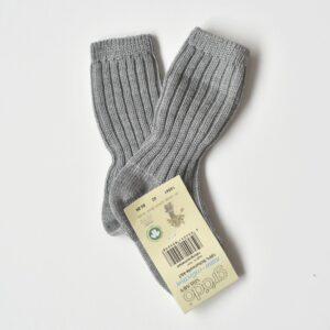 Chaussettes bébé hautes et épaisses en laine mérinos bio Grödo